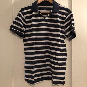 Men's Slim Fit Striped Pique Polo
